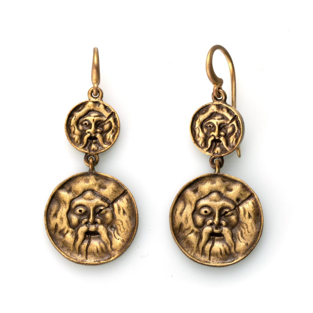 Orecchini Bocche della Verità -Disponibili in ottone anticato o bronzo